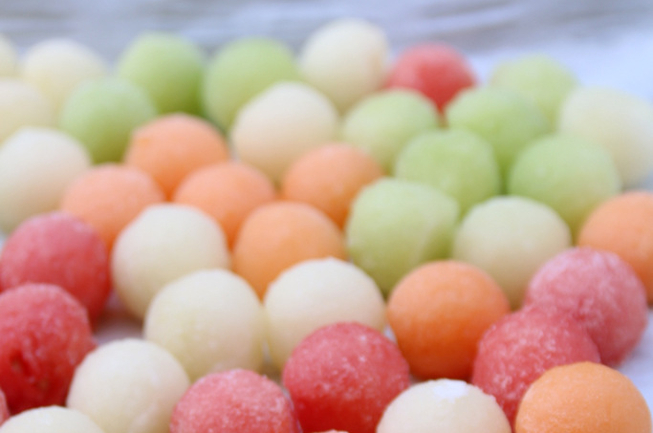 Melon-ball-ice-cubes